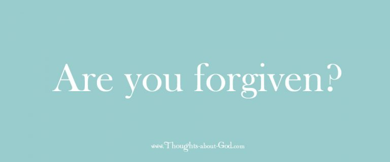 Are You Forgiven