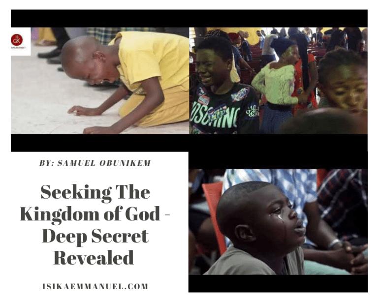 Seek Ye First The Kingdom of God Scripture